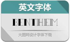 Benthem(两款英文字体)