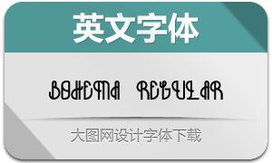 Bohema(创意英文字体)