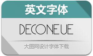 DecoNeue-Light(英文字体)