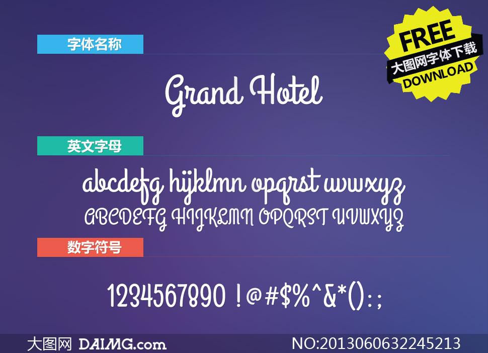GrandHotel(英文字体)