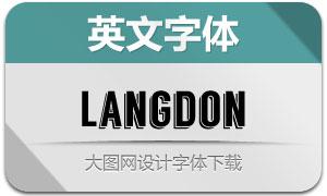 Langdon(立体效果英文字体)