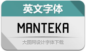 Manteka(英文字体)