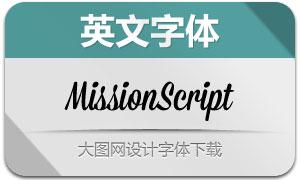 MissionScript(英文字体)