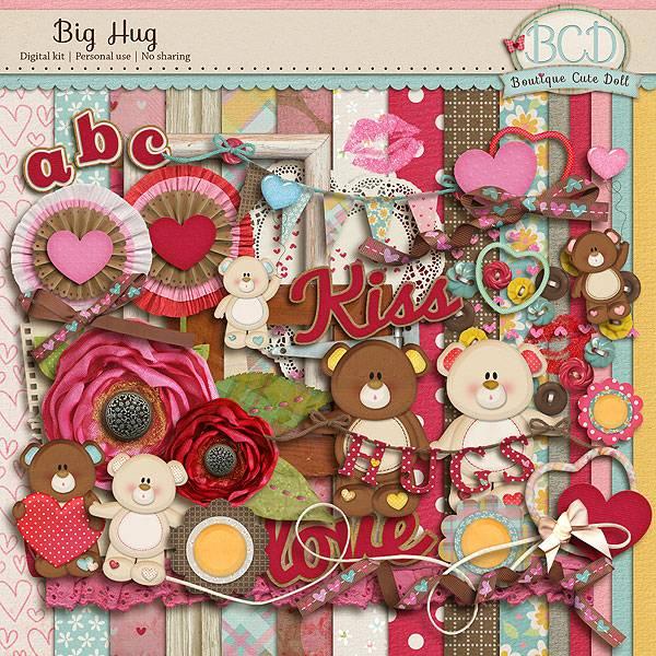 卡通玩具小熊和粉色背景等图片素材