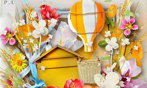 花草主题和温馨背景等图片素材