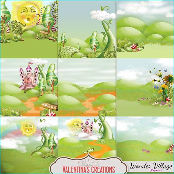 童话城堡和卡通动物等图片素材