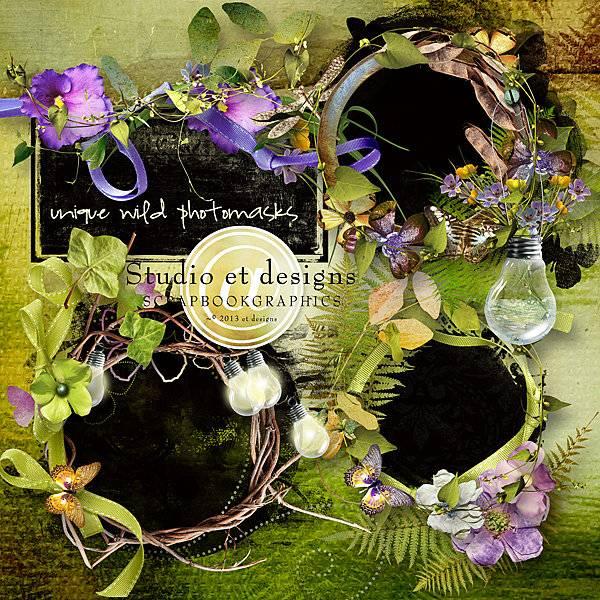 花草树木和蝴蝶蜻蜓等剪贴图片素材