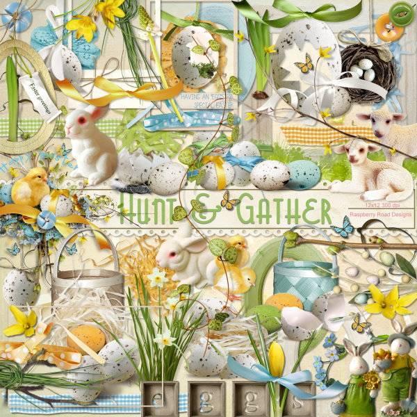 可爱动物和鸟蛋等装饰图片素材