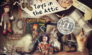 复古人物和欧式玩具等图片素材
