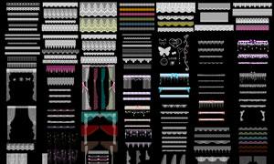 超多蕾丝边框和蕾丝窗帘等PSD素材