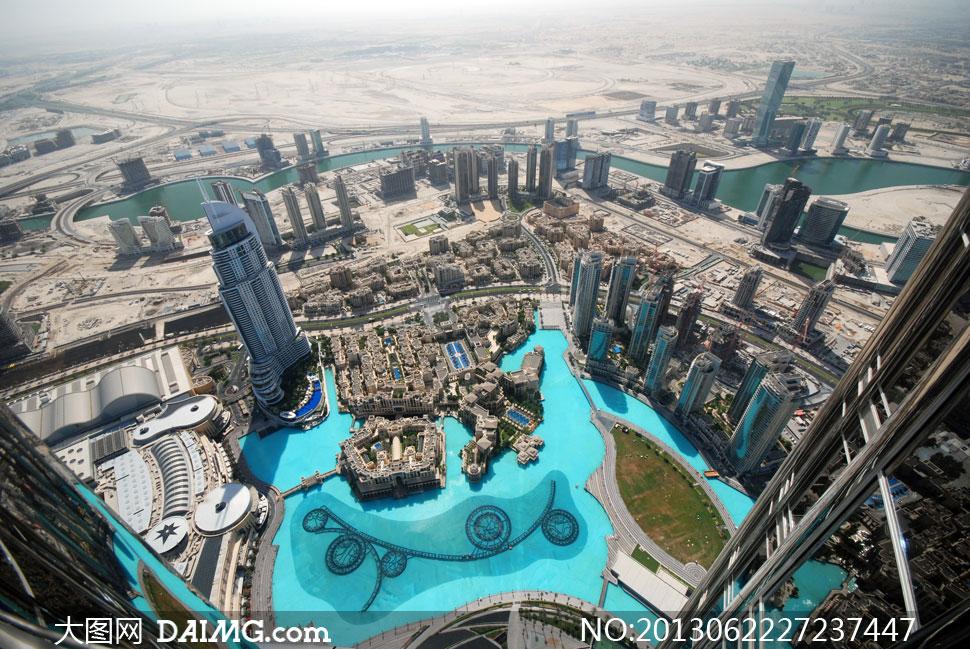 现代化大都市建筑鸟瞰摄影高清图片高清图片