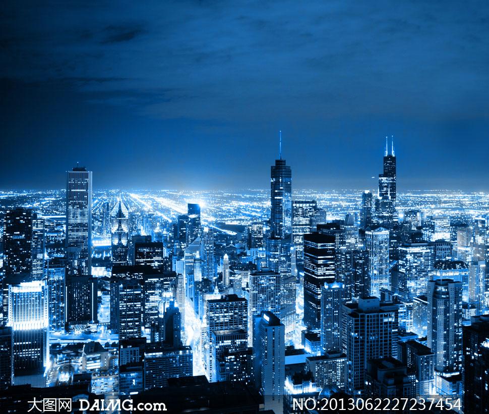 天空云彩城市夜景风光摄影高清图片