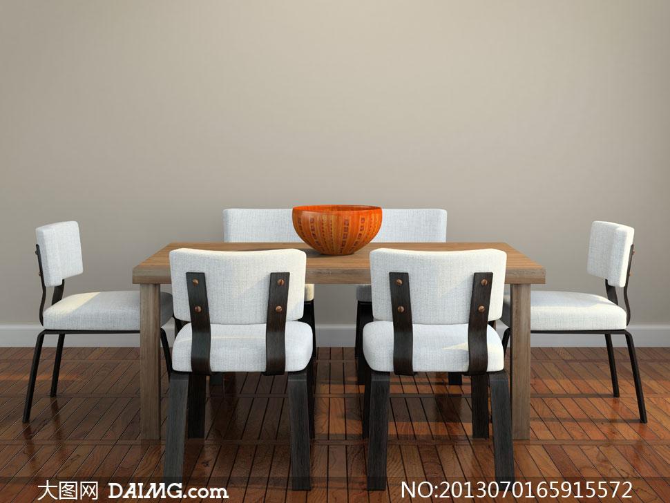室内餐厅桌椅陈设布置摄影高清图片