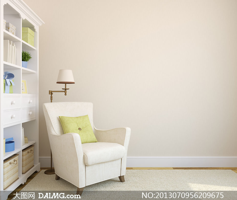 素材信息          客厅沙发与铁壁炉地毯摄影高清图片         仿砖