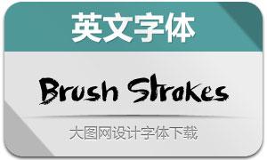 BrushStrokes(英文字体)