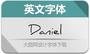 Daniel(3款手写英文字体)