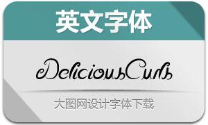 DeliciousCurls(两款英文字体)