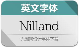 Nilland(6款英文字体)