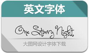 OneStarryNight(手写英文字体)