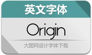 Origin(4款英文字体)