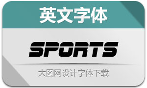 SFSportsNight系列8款英文字体