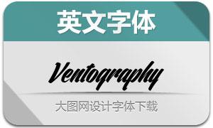 Ventography(英文字体)