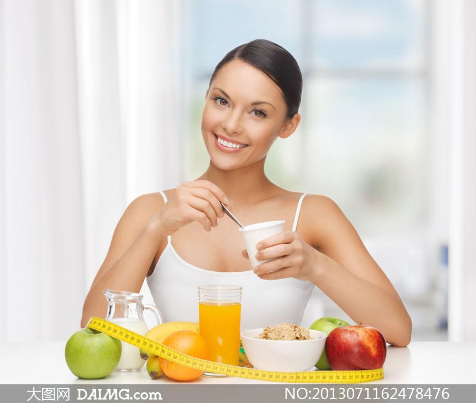 美女人物健康饮食主题摄影高清图片