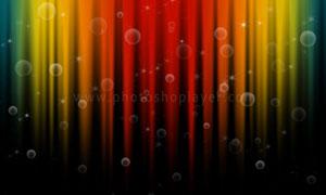 制作梦幻效果的彩虹背景PS教程素材