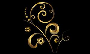 金色金属花纹制作PS教程素材