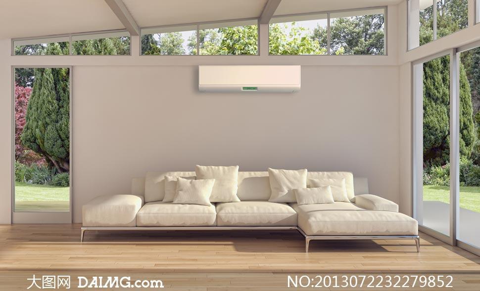 空调别墅图片素材