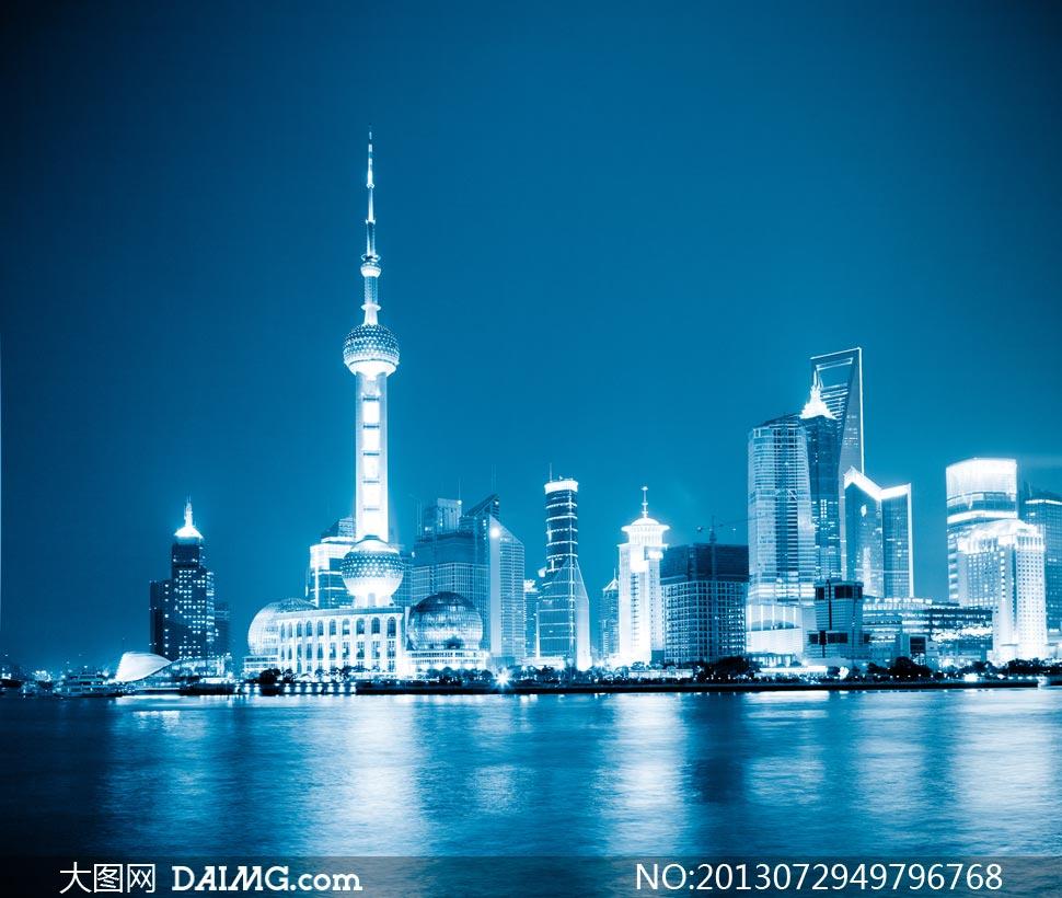 黄浦江东方明珠电视塔摄影高清图片图片
