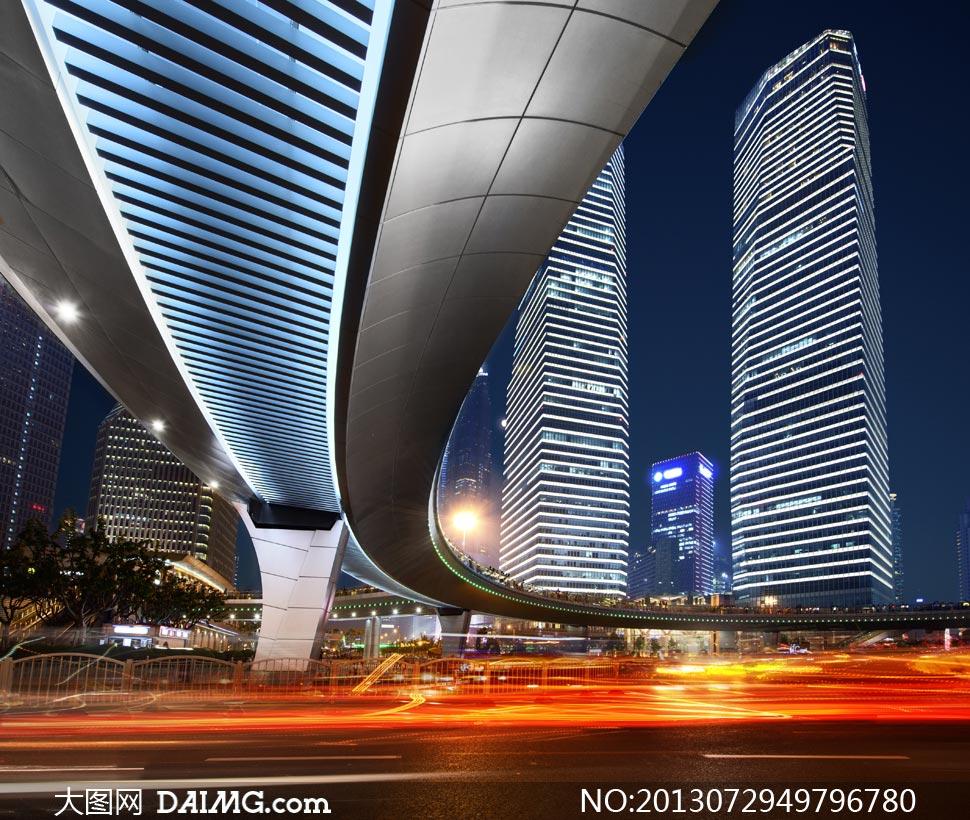 高清大图图片素材摄影城市大楼高楼大厦楼房建筑物写字楼商务楼夜景