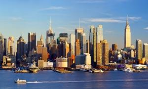 纽约建筑物群风光全景摄影高清图片