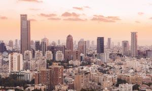 以色列特拉维夫市鸟瞰摄影高清图片