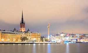 北欧斯堪的纳维亚夜景摄影高清图片