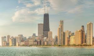 芝加哥的密西根湖风光摄影高清图片