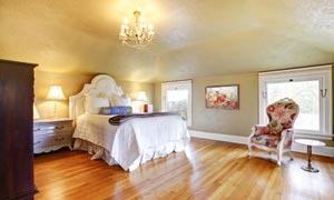 欧式卧室房间内景陈设摄影高清图片
