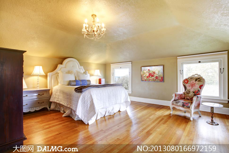 大图网设计素材下载; 室内卧室设计图片;