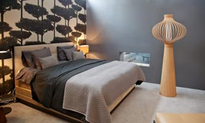 卧室床上用品与工艺品摄影高清图片