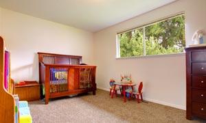 宽敞的儿童游戏房内景摄影高清图片