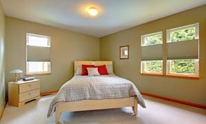 房间里的抽屉柜与窗户摄影高清图片