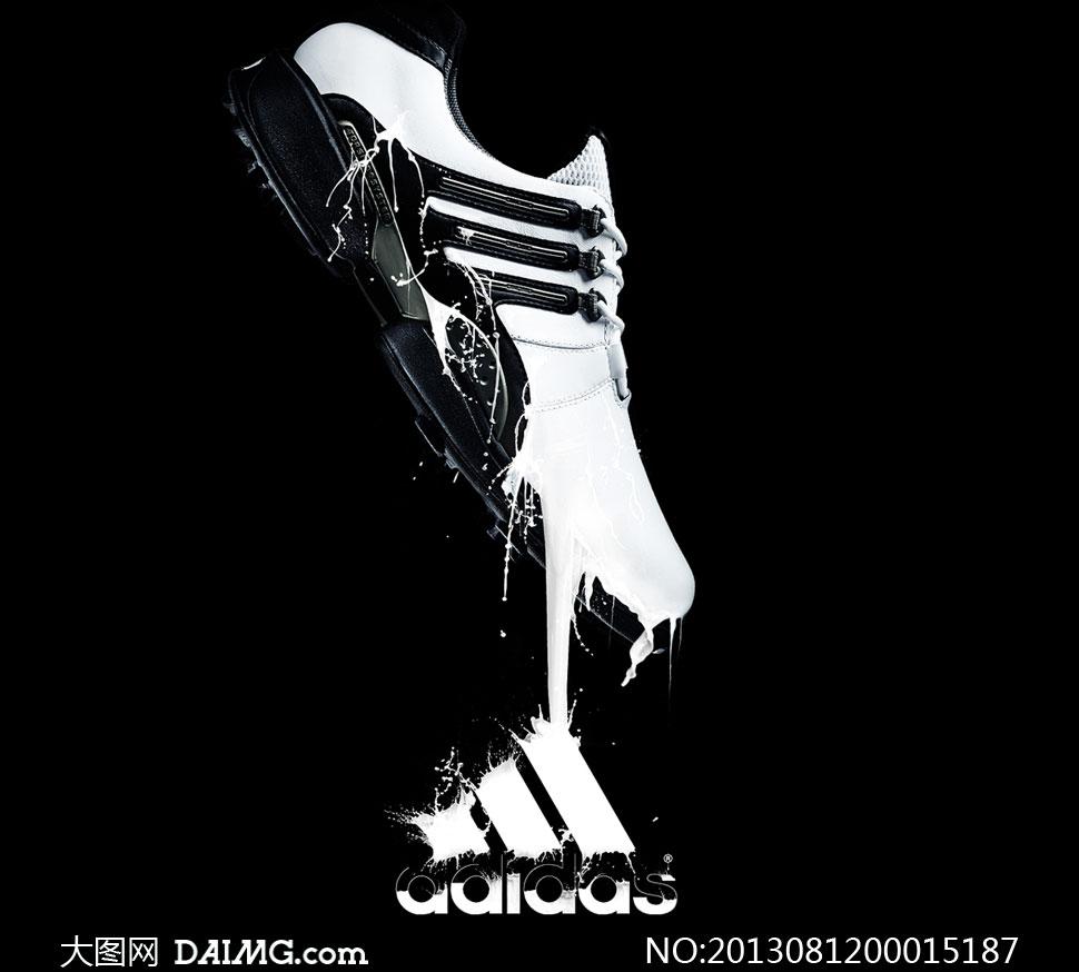 阿迪达斯球鞋海报ps教程素材 - 大图网设计素材下载图片