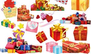 礼品盒设计集合PSD分层素材