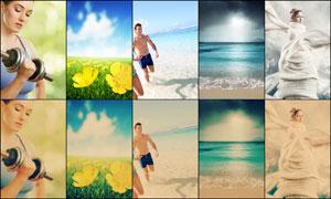 数码照片怀旧泛黄效果调色动作