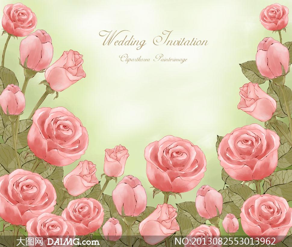 psd分层素材韩国素材tua花朵花卉鲜花手绘