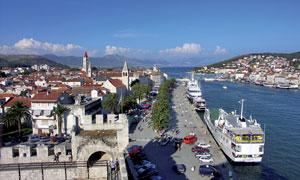 克罗地亚海港摄影图片素材
