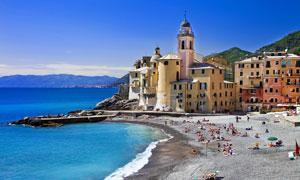 意大利海边沙滩摄影图片素材