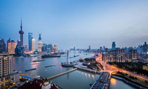 上海外滩建筑物摄影图片素材