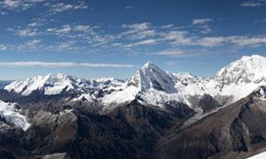 阿尔卑斯山脉全景摄影图片