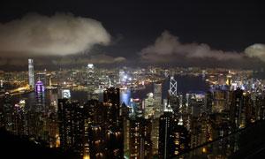 香港太平山山顶全景摄影图片